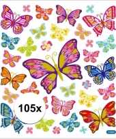 Vlinder thema kinder stickers 10113438