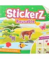 Wilde dieren autoraam sticker boekje