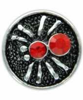 Zilveren chunk met spin rood 1 8 cm